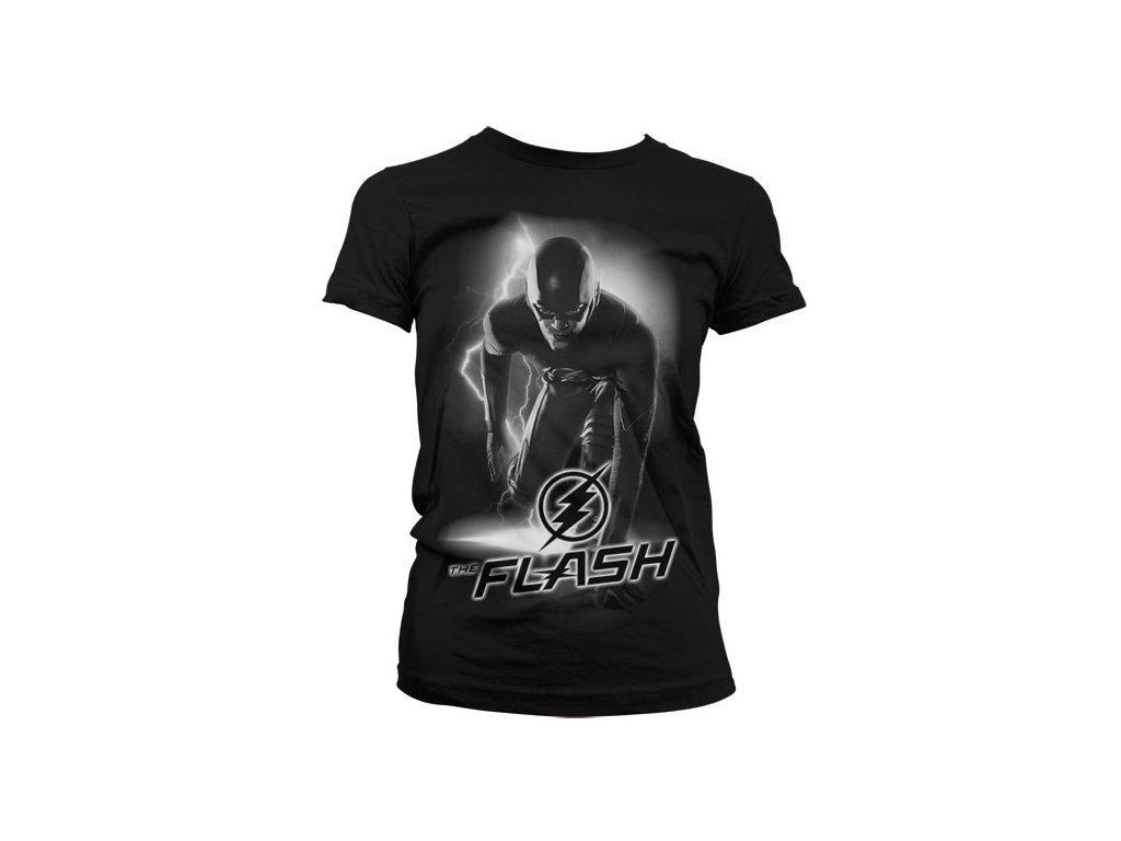 Dámské tričko The Flash Ready (Výběr velikosti XXL)