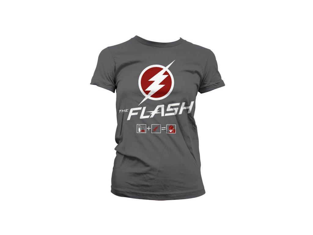 Dámské tričko The Flash Riddle (Výběr velikosti XXL)