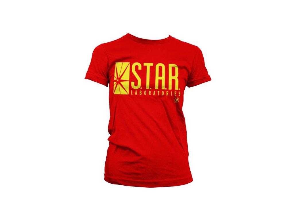 Dámské tričko The Flash Star Laboratories (Výběr velikosti XXL)