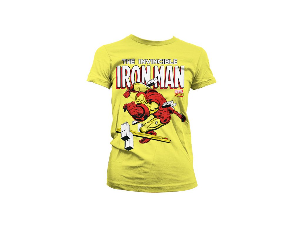 Dámské tričko The Invincible Iron Man (Velikost L)