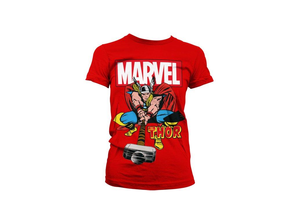 Dámské tričko The Mighty Thor (Barva Žlutá, Velikost XXL)