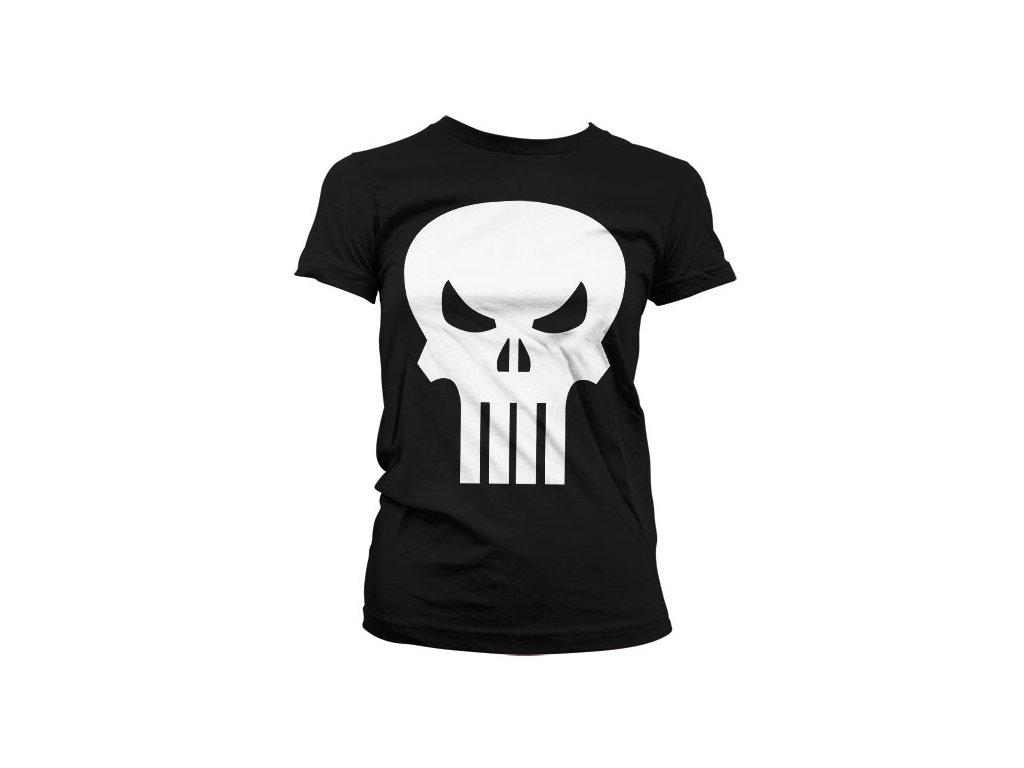 Dámské tričko The Punisher Skull (Velikost S)