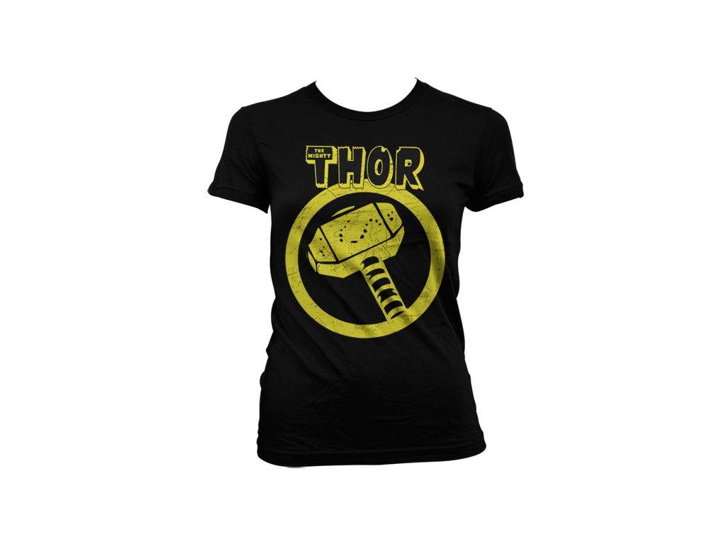 Dámské tričko Thor Distressed Hammer (Velikost M)