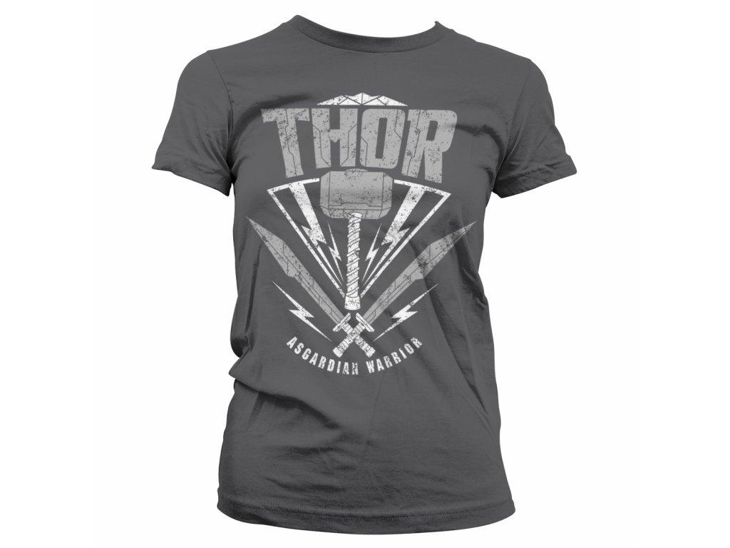 Dámské tričko Thor: Ragnarok - Asgardian Warrior (Barva Černá, Velikost XXL)