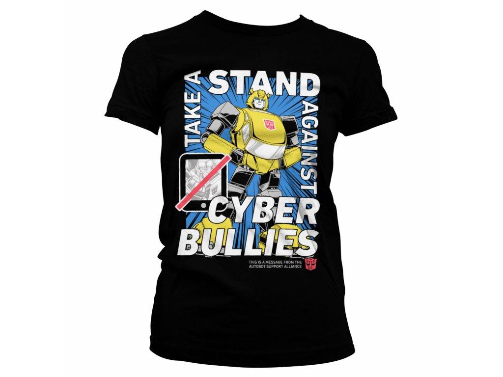 Dámské tričko TRANSFORMERS - STAND AGAINST BULLIES (Barva Černá, Velikost XXL)