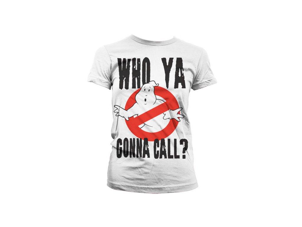 Dámské tričko Who Ya Gonna Call? (Barva Šedá, Velikost XXL)