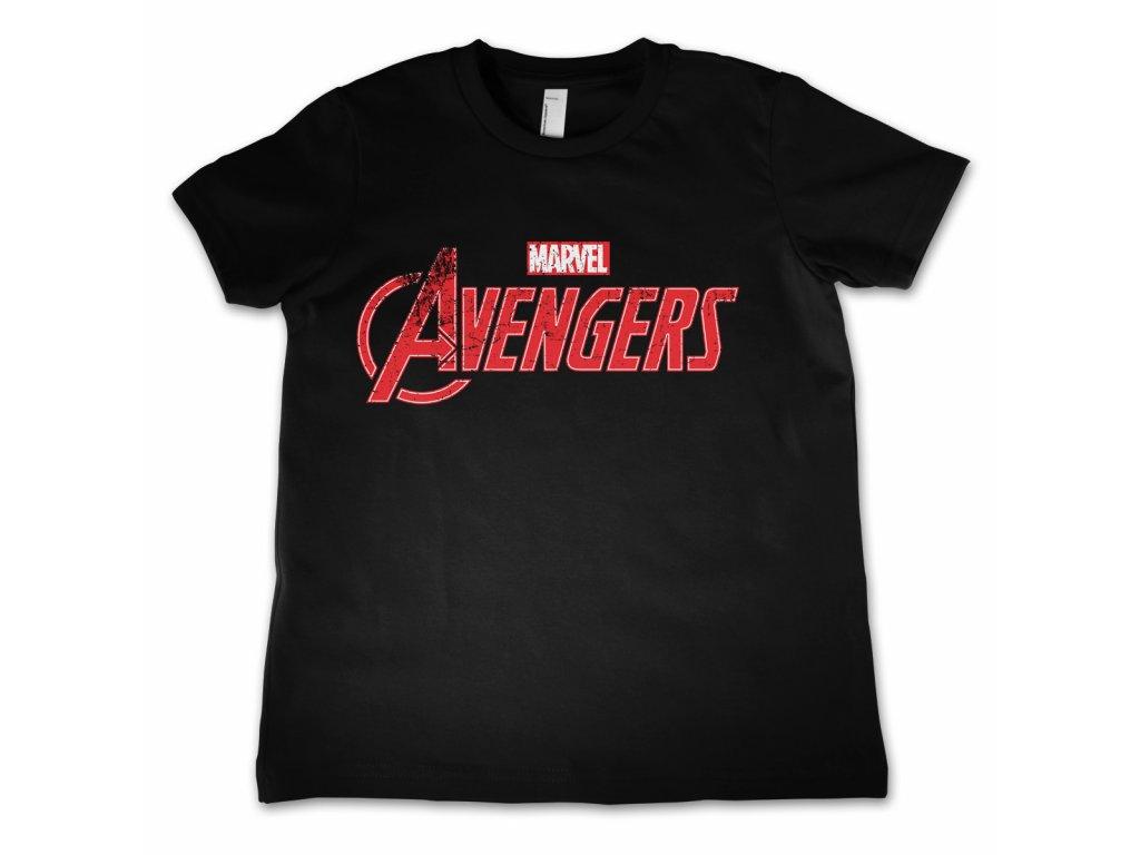 Dětské tričko Avengers Distressed Logo (Výběr velikosti 12 rokov)