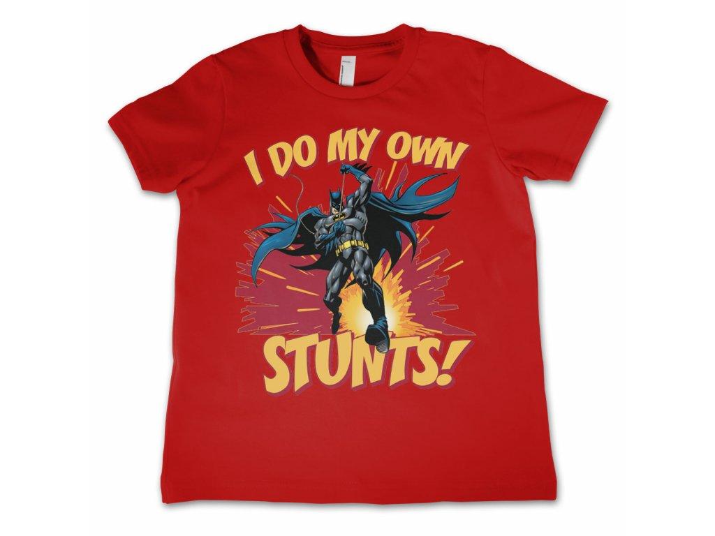 Dětské tričko Batman - I Do My Own Stunts (Výběr velikosti 8 rokov)