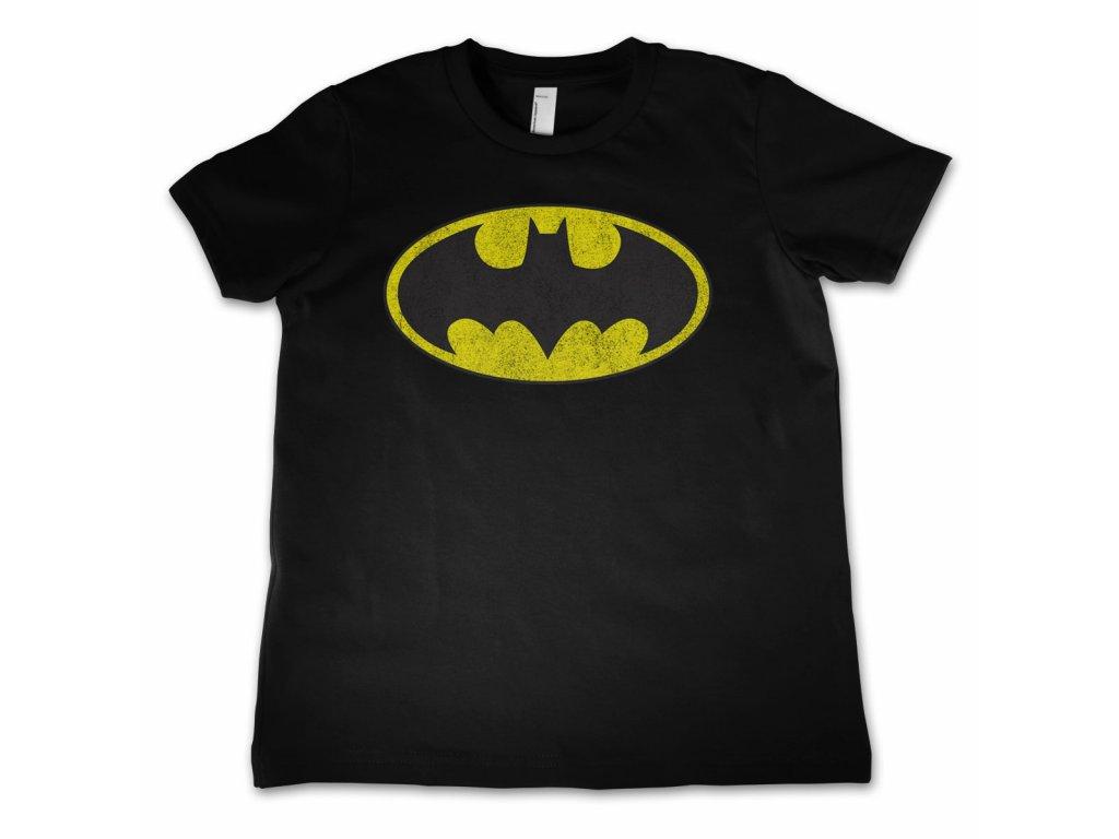 Dětské tričko Batman Distressed Logo (Výběr velikosti 6 rokov)