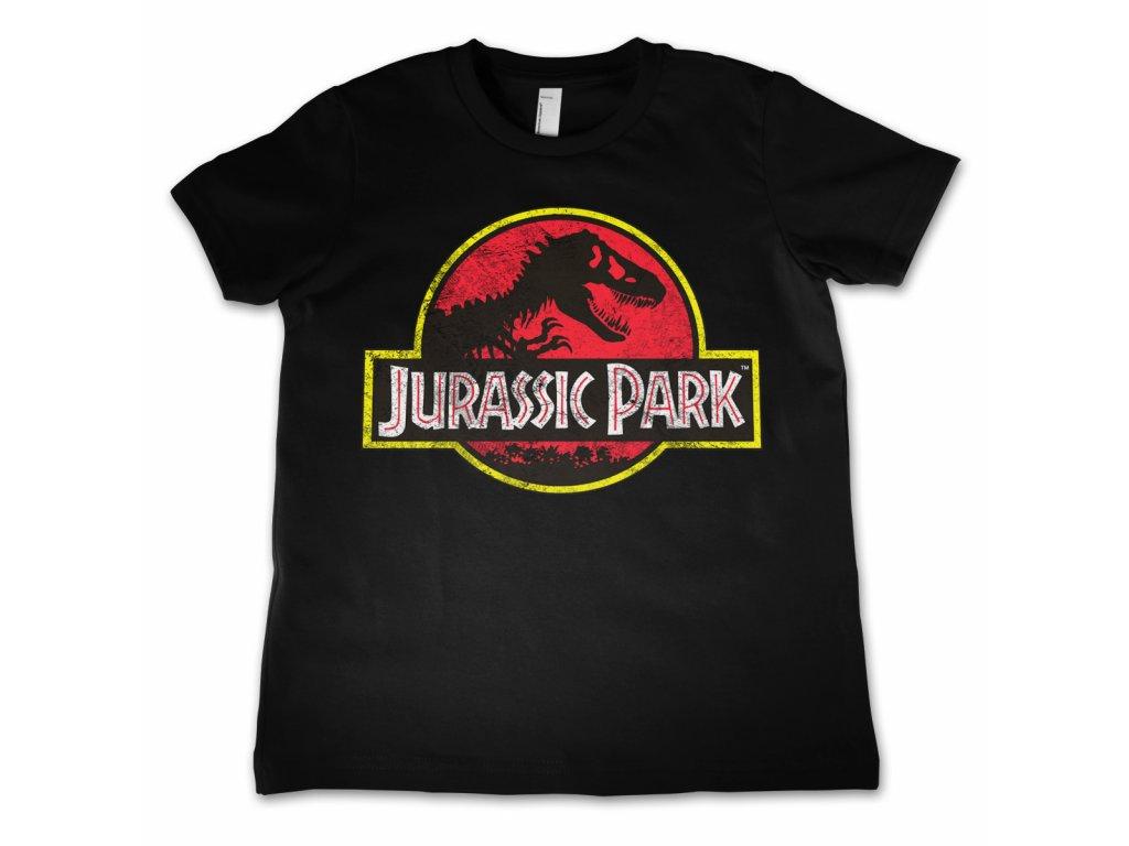 Dětské tričko Jurassic Park Distressed Logo (Výběr velikosti 10 rokov)