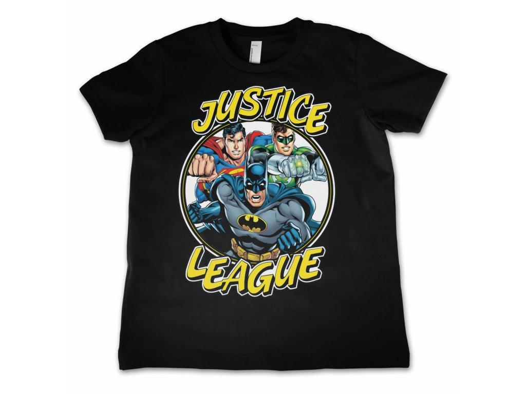 Dětské tričko Justice League Team (Dětské velikosti 12 rokov, Barva Žlutá)