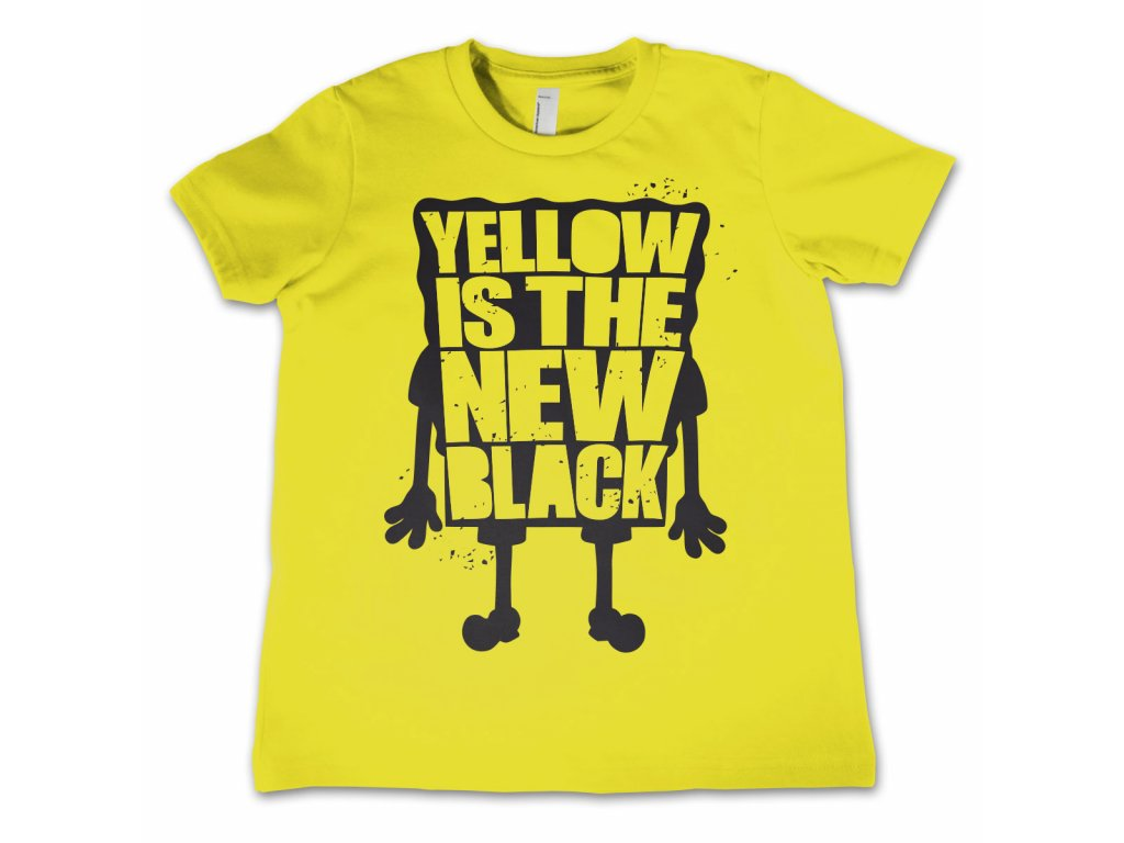 Dětské tričko Yellow Is The New Black (Dětské velikosti 8 rokov)