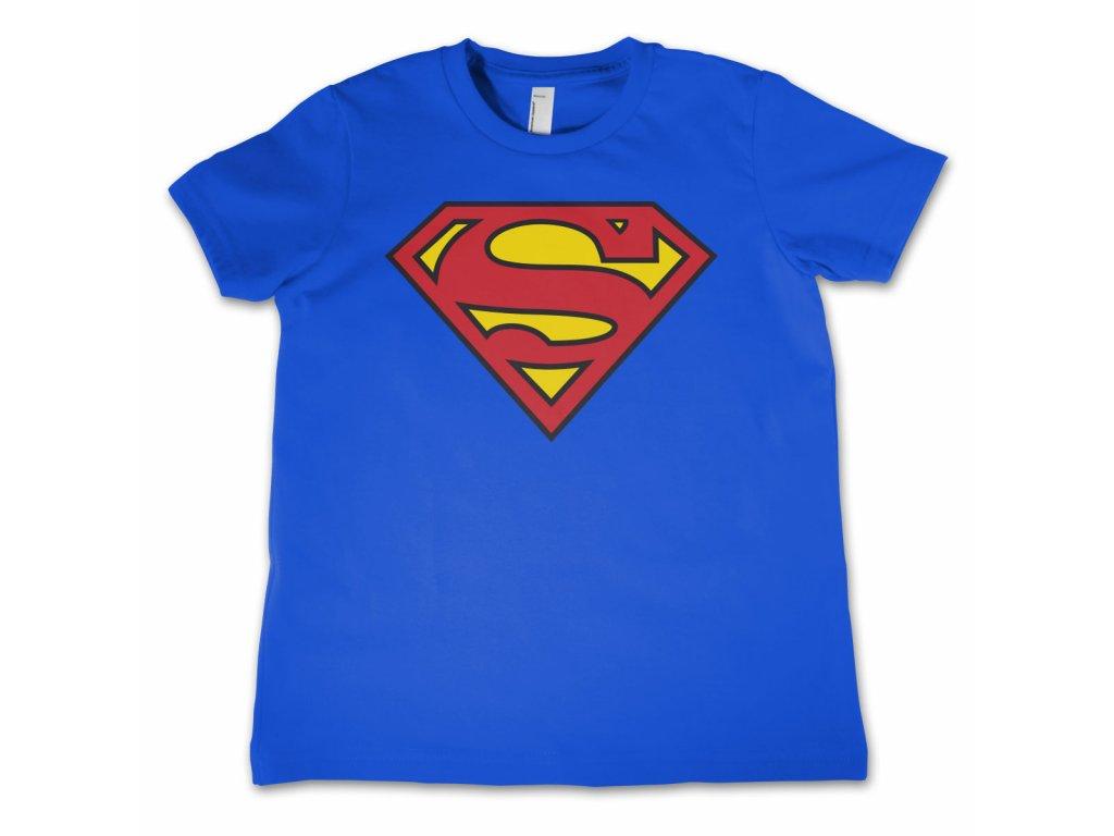 Detsko tričko Superman Shield (Dětské velikosti 8 rokov)