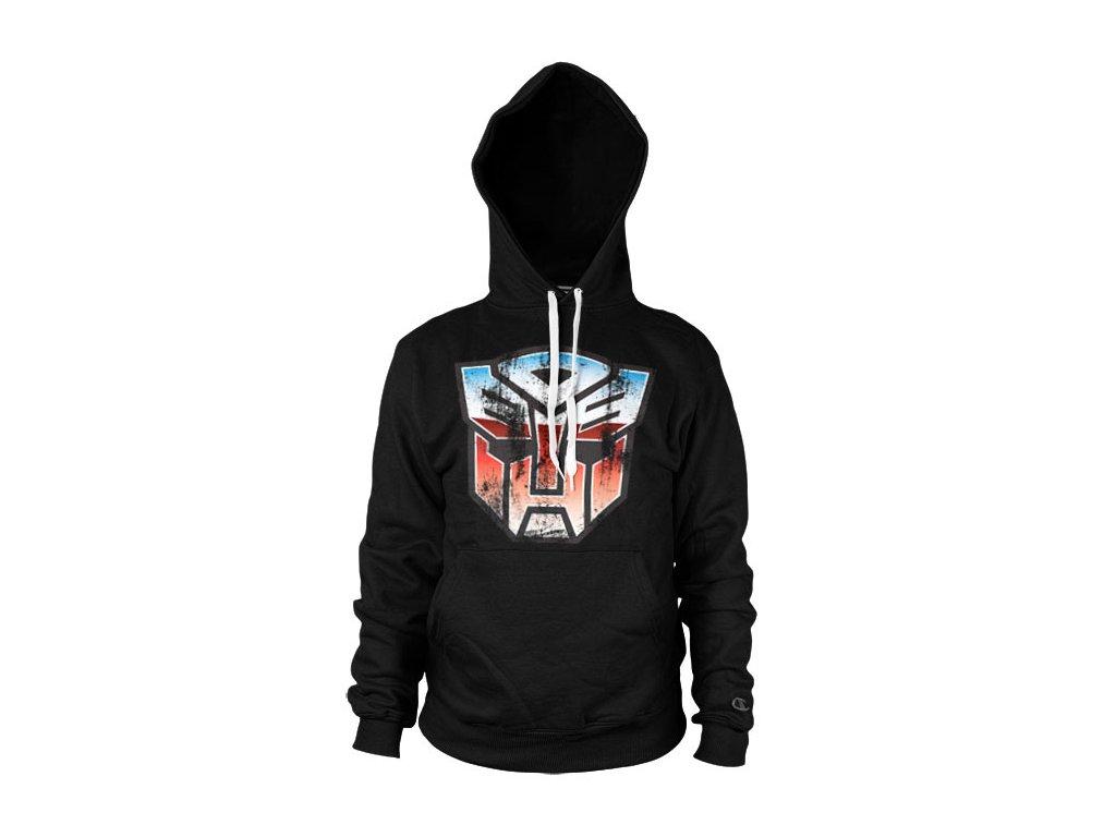 Distressed Autobot Shield Hoodie (Výběr velikosti XXL)