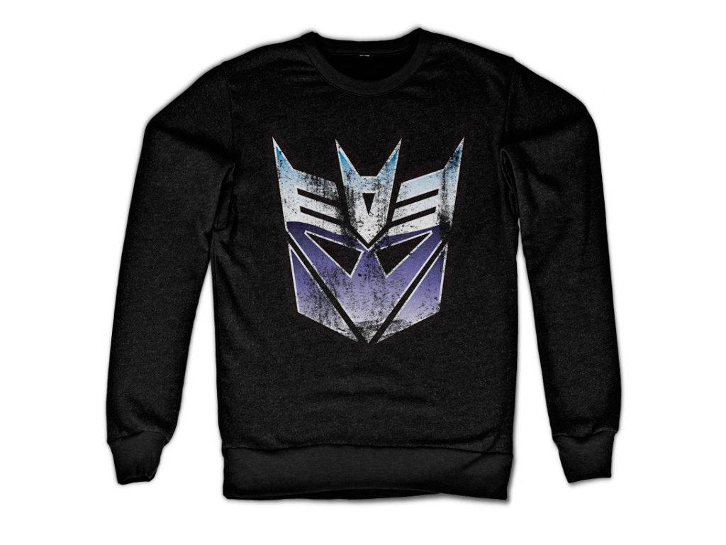 Distressed Decepticon Shield Sweatshirt (Výběr velikosti XXL)