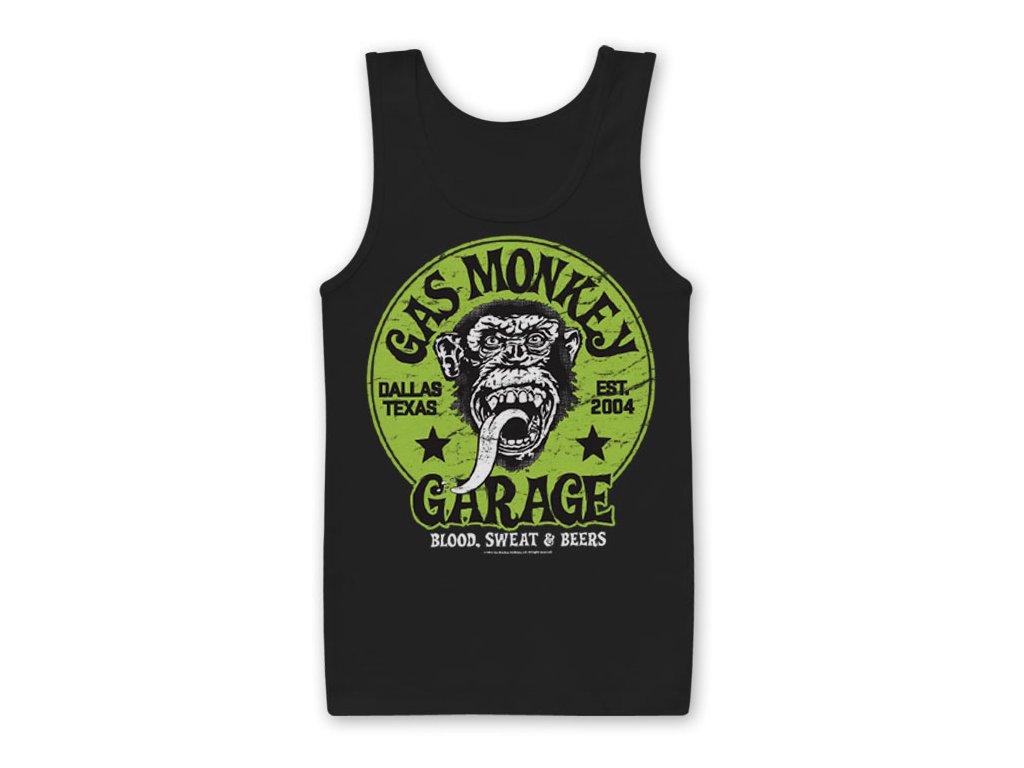 Gas Monkey Garage - Green Logo Tank Top (Výběr velikosti XXL)