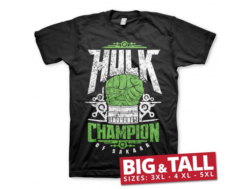 Hulk Champion Of Sakaar Big & Tall T-Shirt (Výběr velikosti XXXXXL)