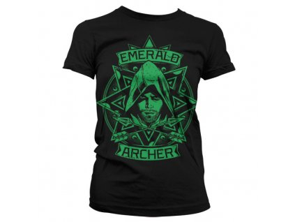 Dámské tričko Arrow Emerald Archer (Barva Šedá, Velikost XXL)