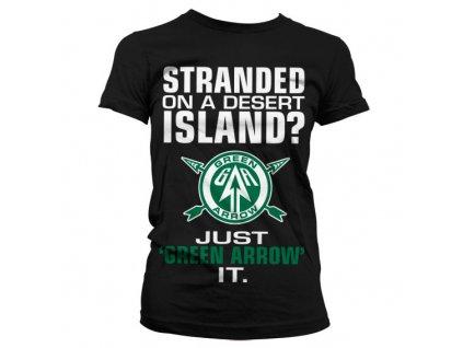 Dámské tričko Arrow Just Green Arrow It (Výběr velikosti XXL)