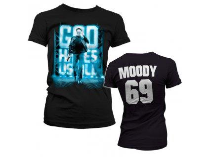 Dámské tričko God Hates Us All Moody 69 (Velikost S)