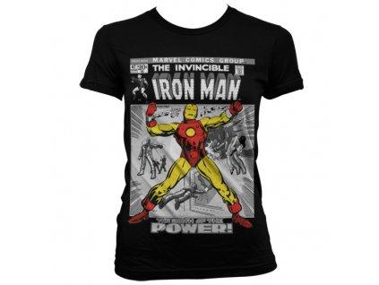 Dámské tričko Iron Man Cover (Velikost XXL)