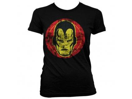 Dámské tričko Iron Man Icon (Velikost XL)