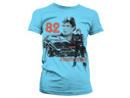 Dámské tričko Knight Rider 1982 (Výběr velikosti XXL)