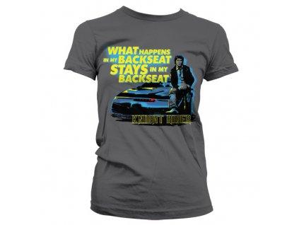 Dámské tričko Knight Rider Backseat (Výběr velikosti XXL)