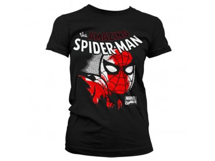 Dámské tričko Spider-Man Close Up (Velikost L)