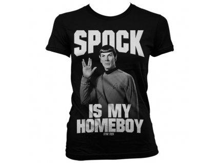 Dámské tričko Spock Is My Homeboy (Velikost XXL)