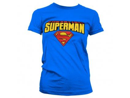 Dámské tričko Superman Blockletter Logo (Barva Žlutá, Velikost XXL)