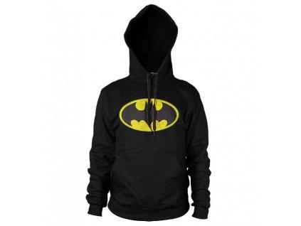 Pánská mikina Batman Distressed Logo (Výběr velikosti M)