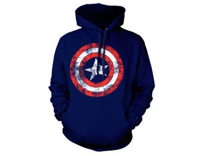 Pánská mikina Captain America Distressed (Velikost XXL)