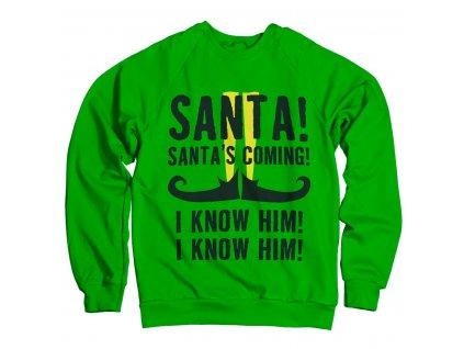 Pánská mikina Elf Santa's Coming (Výběr velikosti L)