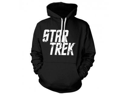 Pánská mikina STAR TREK DISTRESSED LOGO (Barva Černá, Velikost XXL)