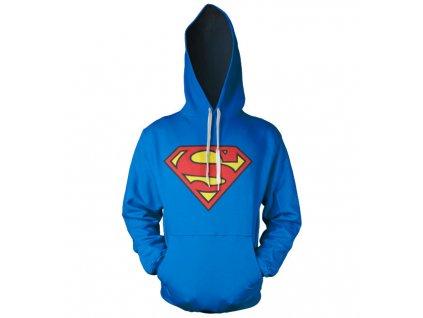 Pánská mikina Superman Shield (Barva Modrá, Velikost XXL)
