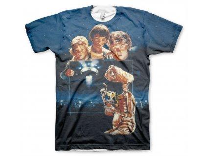 Pánské tričko E.T. Extra Terrestrial Allover (Výběr velikosti XXL)