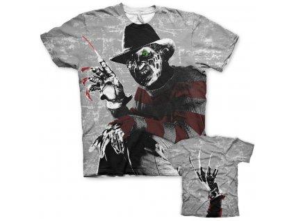 Pánské tričko Freddy Krueger Allover (Výběr velikosti XXL)