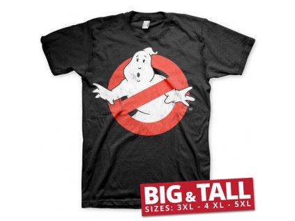 Pánské tričko Ghostbusters Distressed Logo BIG & TALL (Výběr velikosti XXXXXL)