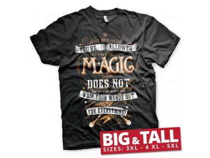 Pánské tričko HARRY POTTER MAGIC BIG & TALL (Výběr velikosti XXXXXL)