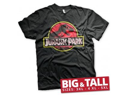 Pánské tričko Jurassic Park Distressed Logo Big & Tall (Výběr velikosti XXXXXL)