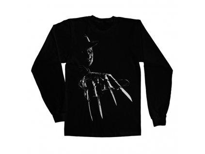 Pánské tričko s dlouhým rukávem  Freddy Krueger (Výběr velikosti XXL)