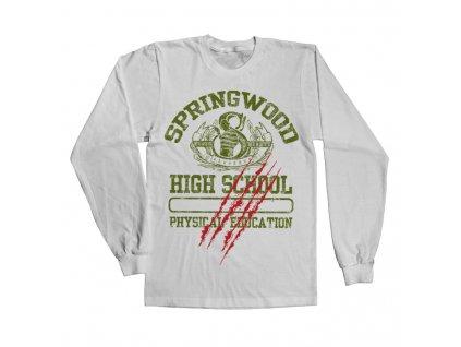 Pánské tričko s dlouhým rukávem  Springwood High School (Výběr velikosti XXL)