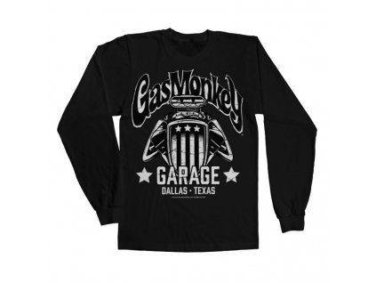 Pánské tričko s dlouhým rukávem Gas Monkey Garage - American Engine (Výběr velikosti XXL)
