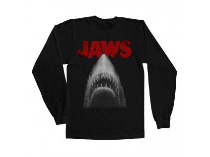 Pánské tričko s dlouhým rukávem JAWS POSTER (Velikost XXL)