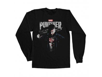 Pánské tričko s dlouhým rukávem The Punisher Blood Long (Výběr velikosti XXXL)