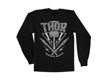 Pánské tričko s dlouhým rukávem Thor: Ragnarok - Asgardian Warrior (Výběr velikosti XL)