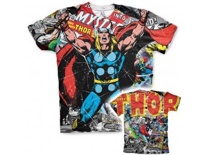 Pánské tričko Thor Comics Allover (Výběr velikosti XXL)