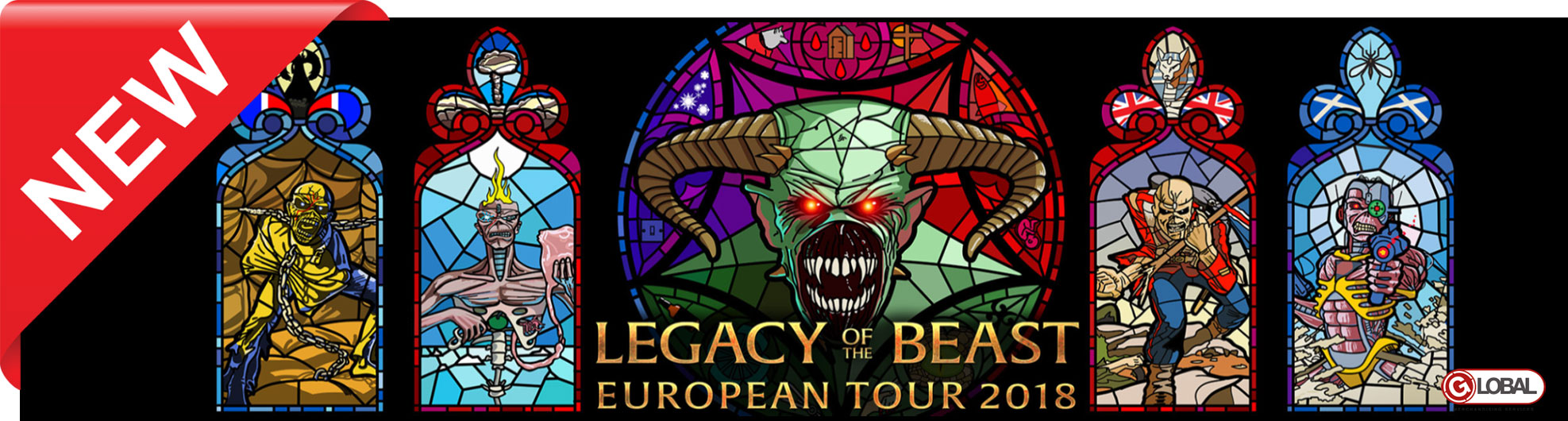 Tričká | Iron Maiden Legacy Of The Beast Tour 2018