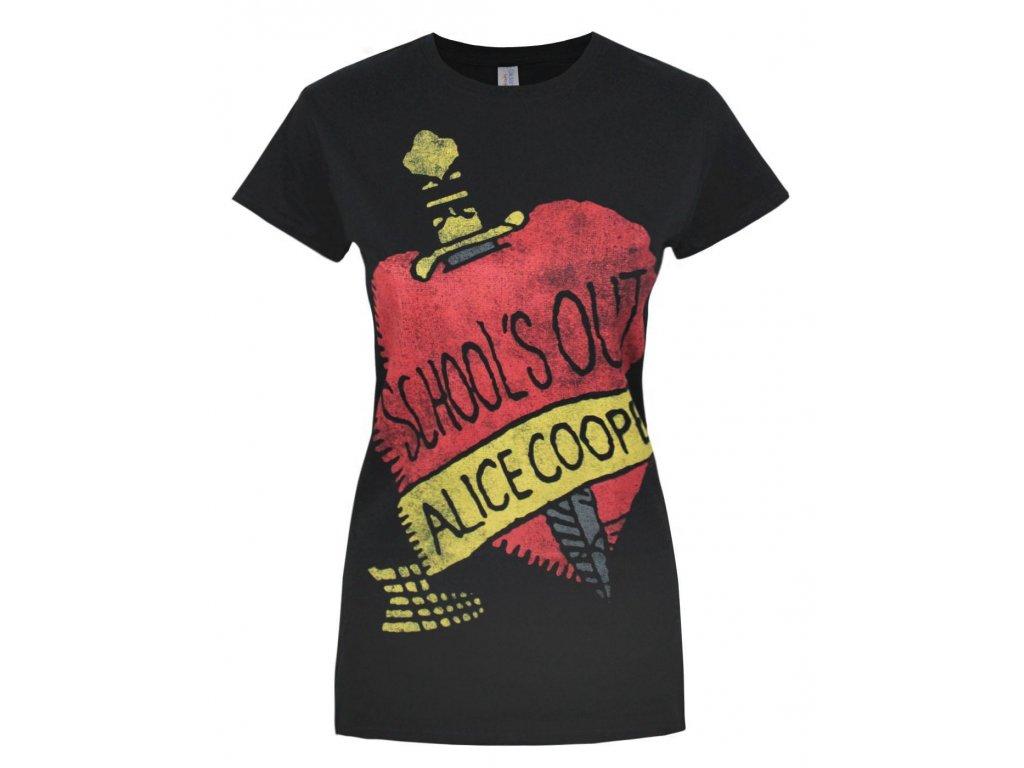 Dámske tričko ALICE COOPER SCHOOL'S OUT (Veľkosť XL)